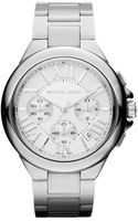 Michael Kors Midsize Silver Color Stainless Steel Camille Chronograph Watch - Lyst