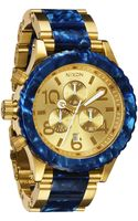 Nixon The 42-20 Chrono Acetate & Gold Watch - Lyst