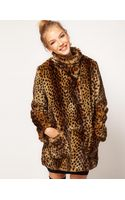 ASOS Collection Asos Longline Animal Fur Coat - Lyst