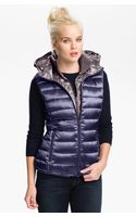 Bernardo Hooded Iridescent Down Vest - Lyst