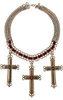 Topshop Cross Thread Necklace - Lyst