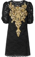 Dolce & Gabbana Embroidered Lace Dress - Lyst