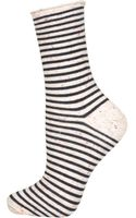 Topshop Nep Stripe Ankle Socks - Lyst