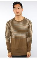 Lifetime Collective The Beat On The Brat Sweater in Capers Heather Grey Stripe - Lyst