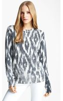 Michael Kors Ikat Print Cashmere Pullover - Lyst