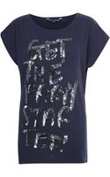 French Connection Party Started Sequin Tshirt - Lyst
