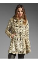 Free People Leopard Swing Coat - Lyst