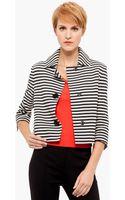 Akris Punto Crop Cotton Jacket - Lyst