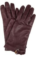 Gucci Cashmerelined Leather Gloves - Lyst