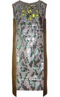 Matthew Williamson Beadembellished Brocade Dress - Lyst