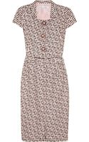 Oscar de la Renta Silktweed Dress - Lyst