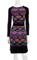 M Missoni Oval Stripe Knit Mini Dress - Lyst