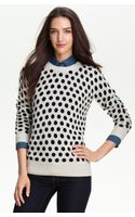 Only Mine Polka Dot Cashmere Sweater - Lyst