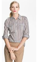 Tory Burch Brigitte Cotton Shirt - Lyst