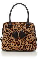 Ted Baker Leopard Print Ponyskin Bowling Bag - Lyst