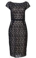 Lela Rose Jigsaw Lace Dress - Lyst