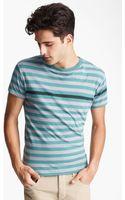 Rag & Bone Stripe Print Tshirt - Lyst