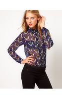 ASOS Collection Asos Shirt with Dandizette Wallpaper Print - Lyst