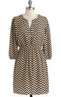 ModCloth Brand New Zag Dress - Lyst