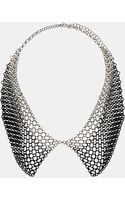 Topshop Chain Drape Collar Necklace - Lyst