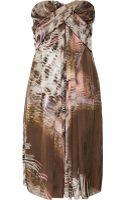 Matthew Williamson Printed Silkgeorgette Dress - Lyst