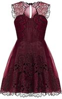 Karen Millen Baroque Cutwork Tutu Dress - Lyst