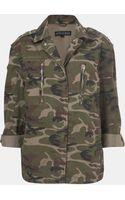 Topshop Camo Jacket Petite - Lyst