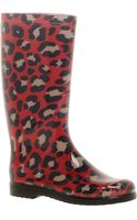 Moschino Cheap & Chic Moschino Cheap and Chic Leopard Print Wellington Boots - Lyst