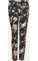 Topshop Print Skinny Pants - Lyst