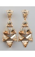 Oscar de la Renta Triangle Cluster Clip Earrings  - Lyst