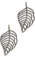 Irit Design Feather Diamond Earrings in Silver - Lyst