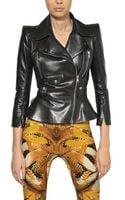 Alexander McQueen Ruffled Nappa Leather Jacket - Lyst