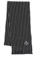 Dolce & Gabbana Polka Dot Silk Georgette Scarf - Lyst