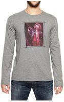 Dolce & Gabbana Mick Jagger Print Cotton Jersey Tshirt - Lyst