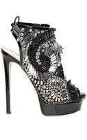 DSquared2 150mm Patent Leather Beaded Sandals - Lyst