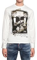 DSquared2 Cotton Jersey and Poplin T-Shirt - Lyst