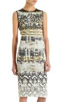 Giambattista Valli Soft Reptile Print Dress - Lyst