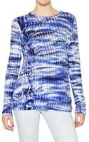 Proenza Schouler Long Sleeved Tie Dye Cotton Jersey Top - Lyst
