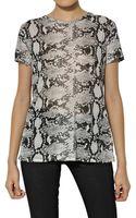 Proenza Schouler Printed Python Cotton Jersey Tshirt - Lyst