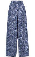 Marni Wide Leg Printed Trouser - Lyst