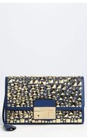 Michael Kors Gia Studded Leather Clutch - Lyst