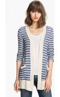 Splendid Panama Stripe Oversized Cardigan - Lyst