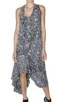 Preen By Thornton Bregazzi Long Floral Print Jersey Dress - Lyst