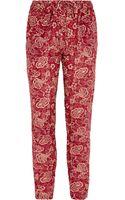 Etoile Isabel Marant Printed Pants - Lyst