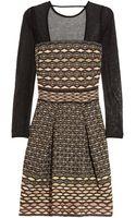 M Missoni Cutout Knitted Dress - Lyst