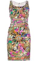 Dolce & Gabbana Fitted Print Dress - Lyst