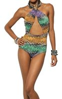 Missoni Viscose Cupro Snake Knit Bathing Suit - Lyst