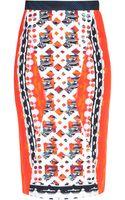 Peter Pilotto Printed Knee Length Skirt - Lyst