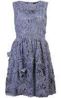 Suno Crochet Lace Dress - Lyst