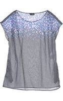 Armani Jeans Geometric Print Short-Sleeves Top - Lyst